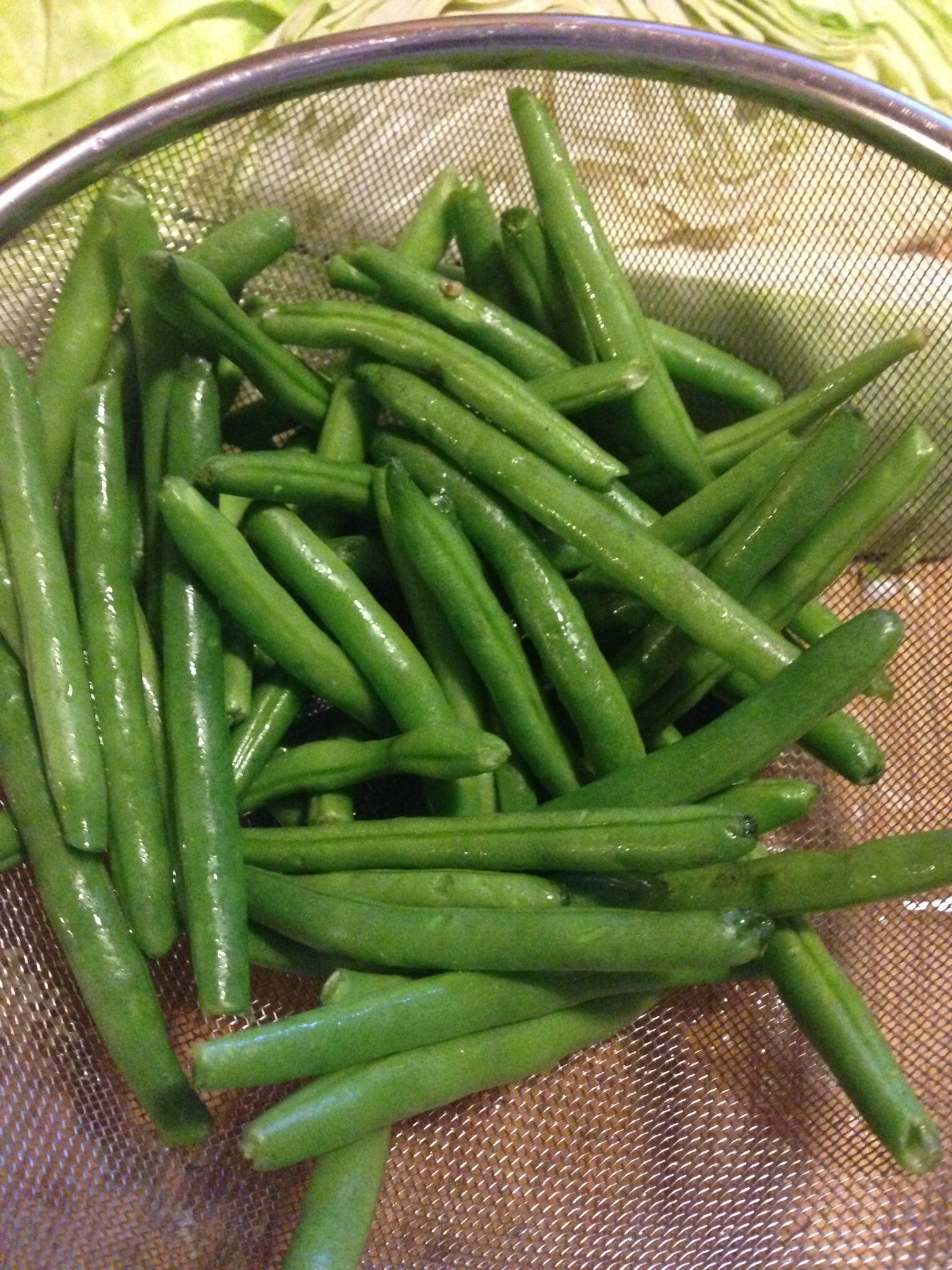 how to keep green beans warm after cooking