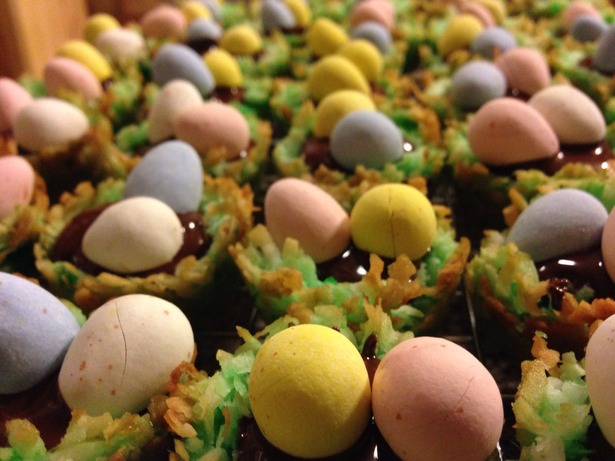 Chocolate Filled Coconut Nests with Cadbury Eggs   The ...