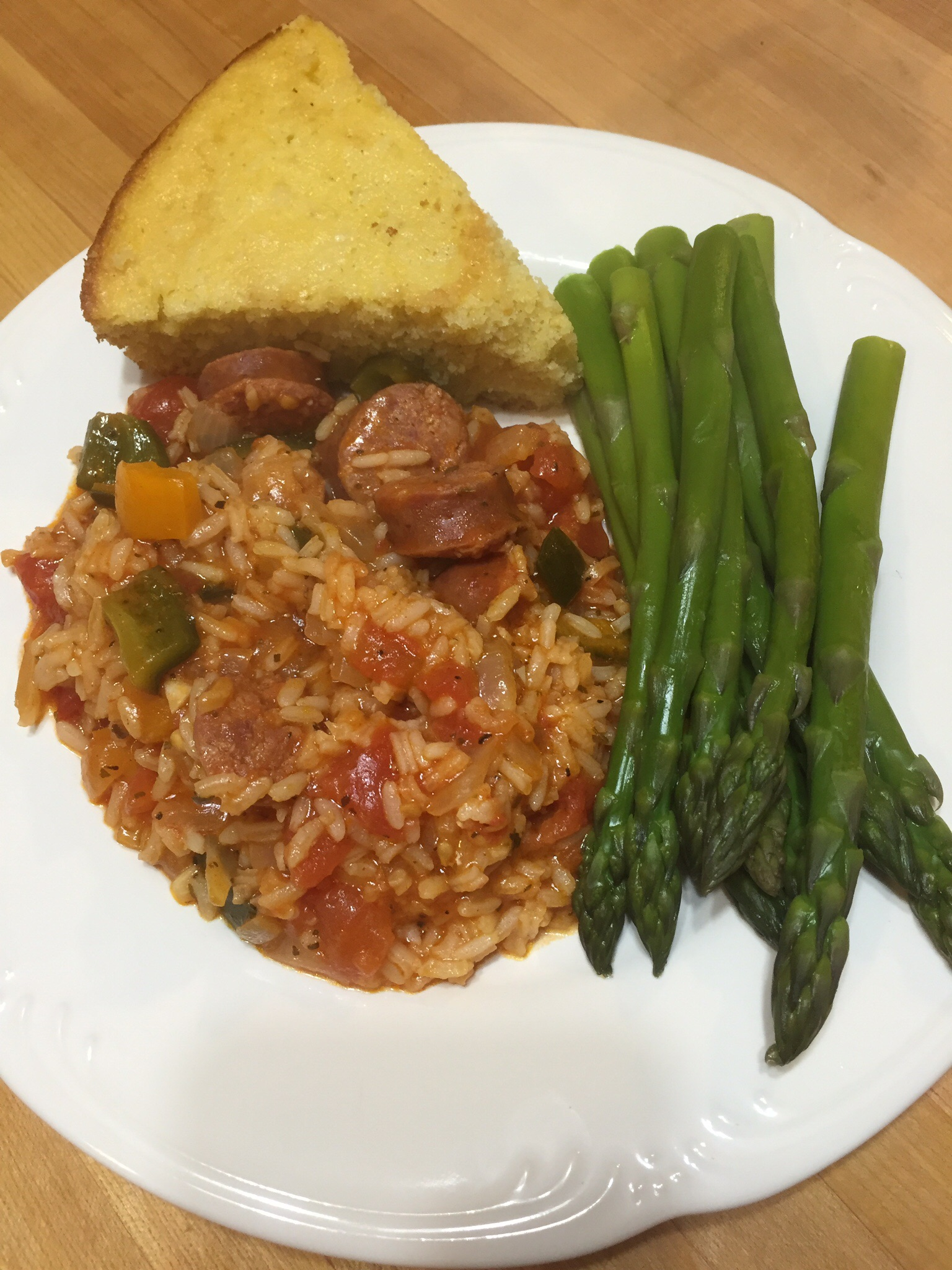 Andouille Sausage, Tomatoes and Rice | The Finnish Dish